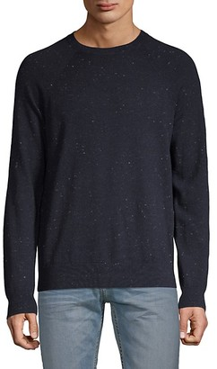 Vince Flecked Long-Sleeve Cotton Wool Sweater