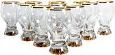 One Kings Lane Vintage Midcentury Crystal Glasses, S/11