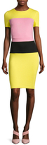French Connection Lula Colorblock Stretch Sheath Dress