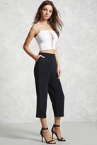 Forever 21 FOREVER 21+ Pleated Cropped Pants