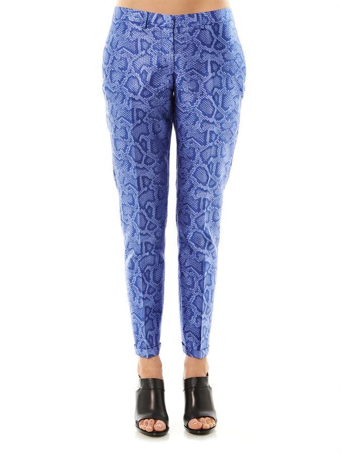Richard Nicoll Snake-effect jacquard tailored trousers