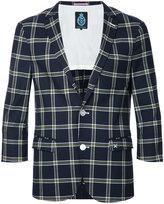GUILD PRIME three-quarter sleeve blazer - men - Polyester/Polyurethane/Rayon - 1