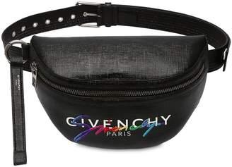 Givenchy RAINBOW LOGO COATED CANVAS BELT BAG
