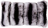 Adrienne Landau Chinchilla-Print Fur Decorative Pillow