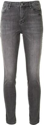 Karl Lagerfeld Paris Chain-Trim Skinny Jeans