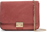 Loeffler Randall Lock Suede And Leather Shoulder Bag - Antique rose