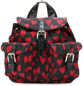 RED Valentino hearts print backpack - women - Polyester - One Size