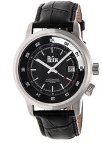 Reign Lannister Collection Men's Automatic Leather and Stainless Steel Watch