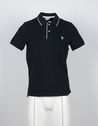 U.S. Polo Assn. Black Cotton Men's Polo Shirt