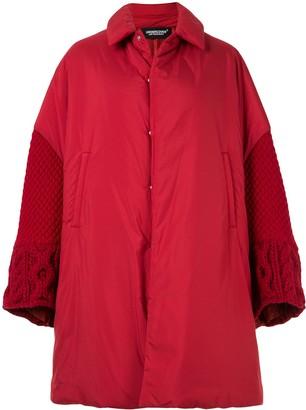 Undercover oversized fabric mix coat