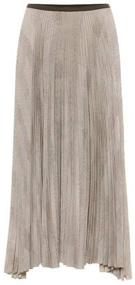 Polo Ralph Lauren Pleated houndstooth midi skirt