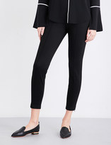 St. John High-rise cropped twill trousers