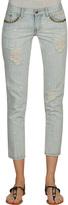 Stud Trim Pocket Skinny Jean