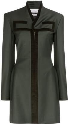 Situationist zipped long-sleeve mini dress