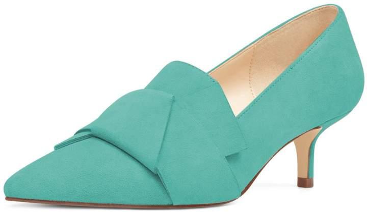 57481a01139 YDN Women Dress Pointy Toe Slip on Pumps Kitten Low Heels Office Formal  Shoes 9.5
