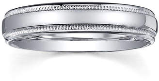 MODERN BRIDE Personalized Comfort Fit 4mm Sterling Silver Wedding Band