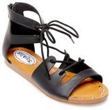 Stevies Girls' #NVM Ghillie Gladiator Sandals - Black