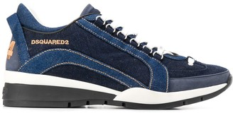 DSQUARED2 Denim-Effect Low-Top Sneakers