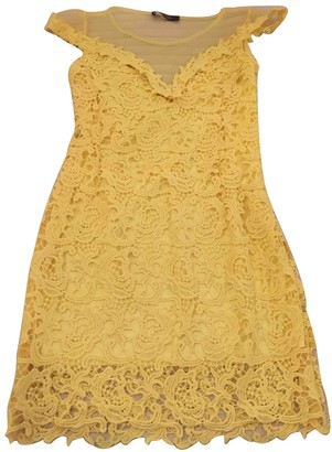 Max Mara Weekend Yellow Lace Dress for Women