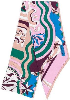 Emilio Pucci Psychedelic Patterned Scarf