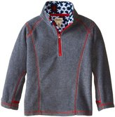 Hatley Fleece Jacket (Toddler/Kid) - Charcoal Melange-4