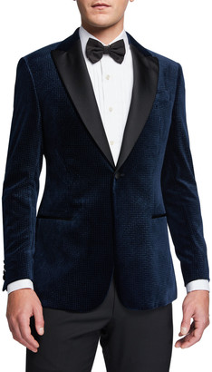 Emporio Armani Men's Velvet Satin-Lapel Dinner Jacket