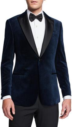 Emporio Armani Men's Velvet Satin-Lapel Dinner Jacket