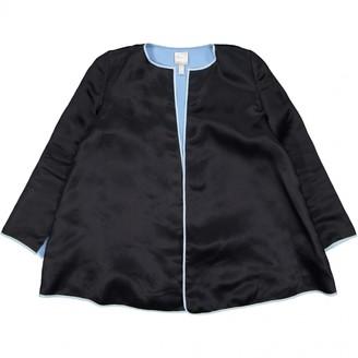 Huishan Zhang Black Silk Jacket for Women