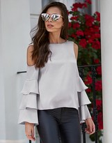 Lipsy Rouleau Back Frill Sleeve Blouse