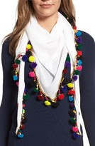 Betsey Johnson Women's Spring Fling Pompom Scarf