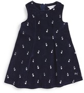 Little Marc Jacobs Infant Girl's Cherry Print Velvet Dress