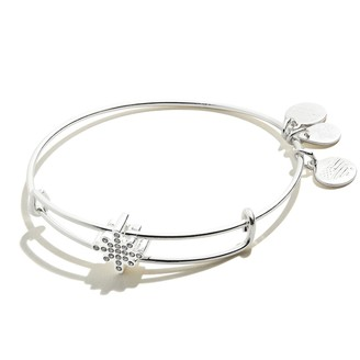 Alex and Ani Pave Star Charm Bangle Bracelet