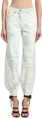 Off-White Tie-Dye Denim Bowed Track Pants
