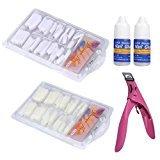 Nails Tools,TOOPOOT 5PC Nail Art Tools ( Nail Art Tips + nail glue + scissors )