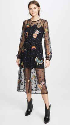 FARM Rio Embroidered Borogodo Dress