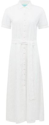 Melissa Odabash Vanessa Broderie-anglaise Cotton Shirt Dress - White