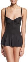 Norma Kamali Underwire One-Piece Swimsuit Dress, Black