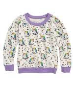 Chaser Toddler Girl's Unicorns Love Sweatshirt