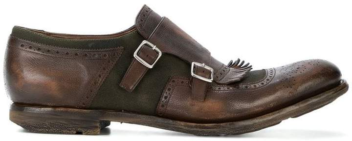 Church's double-buckled shoes