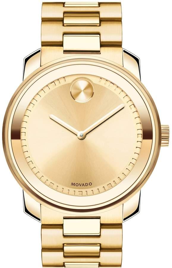 Movado 'Bold' Bracelet Watch, 43mm
