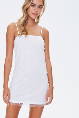 Forever 21 Faux Pearl Cami Mini Dress