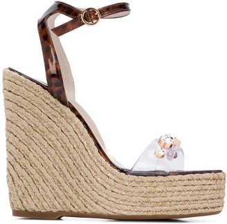 Sophia Webster Dina gem-embellished wedge sandals