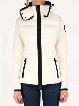 MONCLER GRENOBLE Quilted Cardigan White