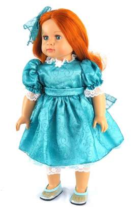 Fashion World American Doll Teal Dress