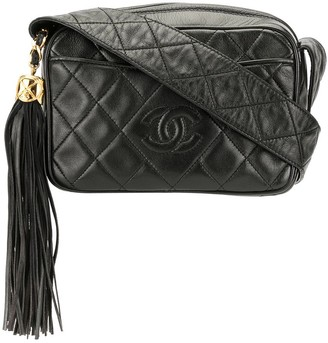 Chanel Pre Owned 1992's Quilted Fringe Crossbody Shoulder Bag