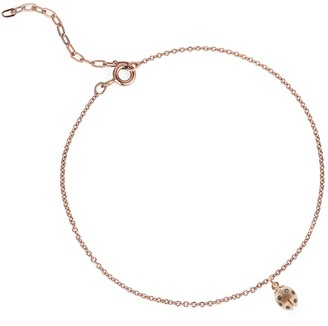 Lee Renee Ladybird Black Diamond Bracelet (Wings Closed) Rose Gold