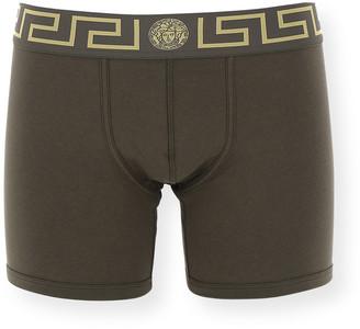 Versace Greca Border Long Boxer Trunks