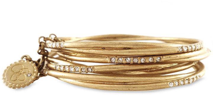 Jessica Simpson Bracelet Set, Gold-Tone Crystal Bangles