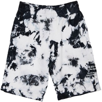 Diesel Tie & Dye Cotton Sweat Shorts