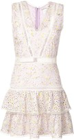 Alice + Olivia Alice+Olivia Tonie embroidered mini dress